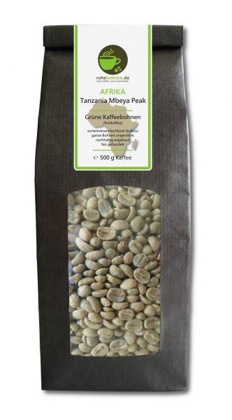 Rohkaffee Tanzania Mbeya Peak