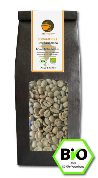 Green Coffee Beans - Organic Arabica Peru Urubamba