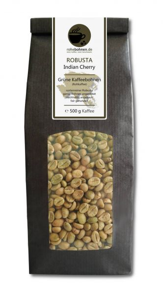 Green Coffee Beans - Robusta Indian Cherry