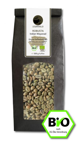 Green Coffee Beans - Organic Robusta Indian Wayanad