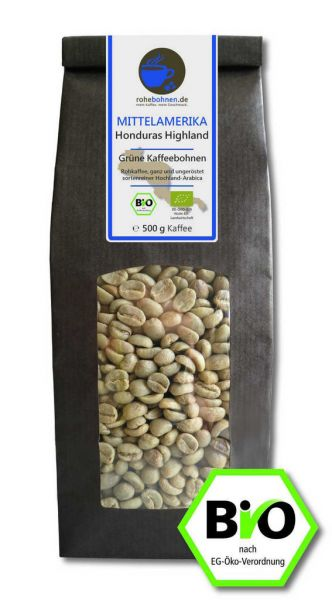Organic green coffee beans - Arabica Honduras Highland