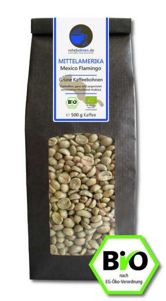 Organic green coffee beans - Arabica Mexico Flamingo
