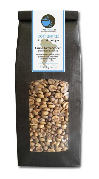 Decaf Green Coffee Arabica Brasil Guaxupe