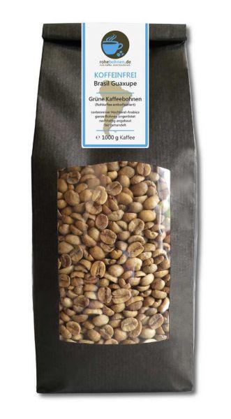 Rohkaffee Brasil Guaxupe koffeinfrei