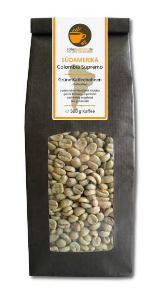 Rohkaffee Colombia Supremo