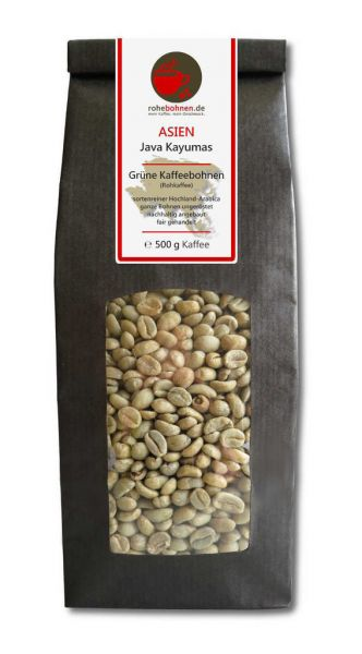 Green Coffee Beans - Arabica Java Kayumas