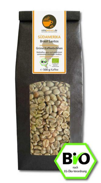 Organic green coffee beans - Arabica Brazil Santos