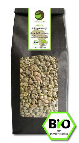 Bio Rohkaffee Äthiopien Maji